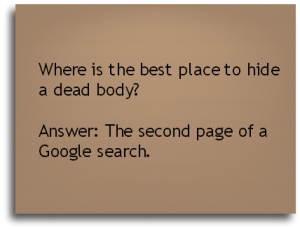 Best place to hide a dead body